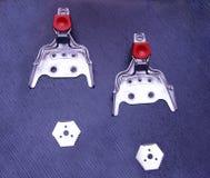 Ski bindings sport vintage metal mounts fasteners snow cross cou. Ntry distance Royalty Free Stock Photography