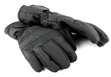 Ski black gloves Stock Image