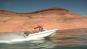 Ski boat on lake powell utah. Video of ski boat on lake powell utah stock footage