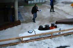 Ski bob Stock Image