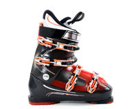 Ski boot. Isolated on white background royalty free stock photo