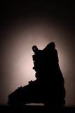 Ski boot silhouette Royalty Free Stock Photo