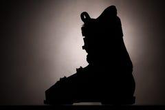 Ski boot silhouette Stock Photos