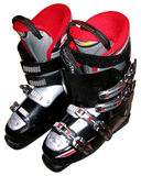 Ski boots. Isolated on white background stock photography