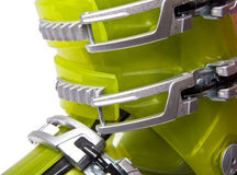 Ski boots isolated on white Stock Images