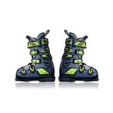 Ski boots, sketch for your design Stock Photos