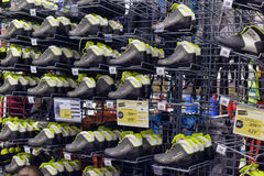 Ski boots in a sports shop Stock Photography
