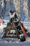 Ski break stock photography