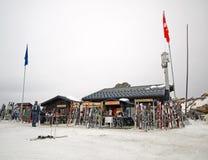 Ski break in the Alps Stock Photo
