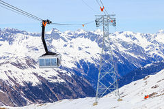 Ski cabin lift Stock Photos