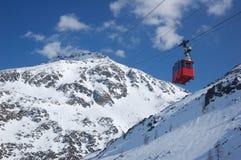 Ski Cable railway Stock Image