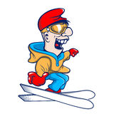 Ski Cartoon character Royalty Free Stock Image