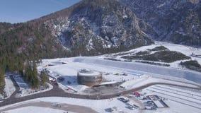 Ski center stock video footage