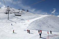 Ski center in France Stock Photography