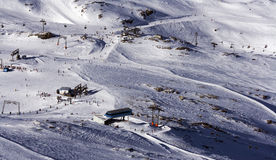 Ski center on glacier stock images