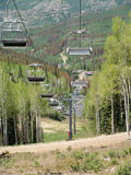 Ski chair Lift -2 Royalty Free Stock Image