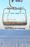 Ski Chair Lift. A picture of a ski chair lift at morning Royalty Free Stock Photo
