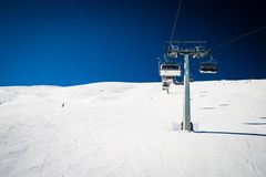 Ski chair-lift Royalty Free Stock Photo