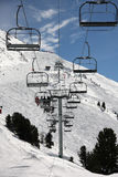 Ski Chair Lift Stock Photo