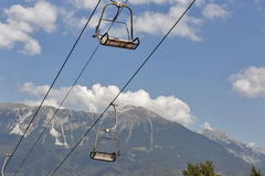 Ski chair lift in Julian Alps. Bled, Slovenia Stock Images