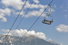 Ski chair lift in Julian Alps. Bled, Slovenia Stock Photography