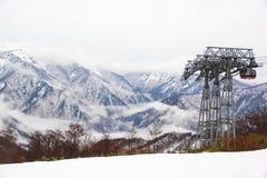 Ski chair lift Stock Photography