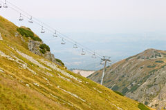 Ski chair lift in Tatra mountains Royalty Free Stock Image