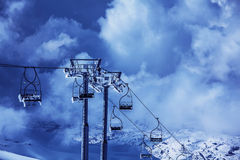 Ski chairlift Stock Images
