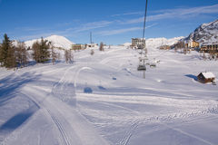A ski chairlift Royalty Free Stock Photo