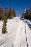A ski chairlift Stock Images