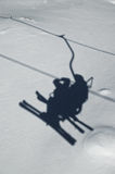 Ski chairlift shadow Stock Photo