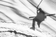 Ski chairlift shadow Stock Images