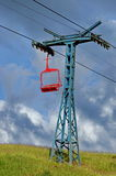 Ski chairlift - Borsa, landmark attraction in Romania. Summer Royalty Free Stock Photography