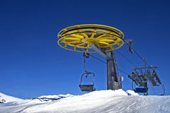 Ski chairlift Royalty Free Stock Photos