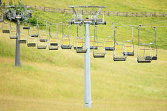 Ski  chairlift in summer Stock Image
