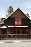 Ski Chalet. A ski chalet with fresh snow in a mountain village of Colorado Stock Image