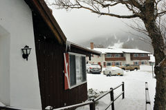 Ski chalet at New Hampshire Stock Images