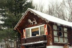 Ski chalet at New Hampshire Stock Photo