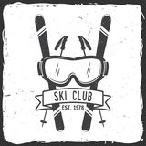 Ski club concept with skier. Stock Photography