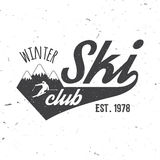 Ski club concept with skier. Royalty Free Stock Image