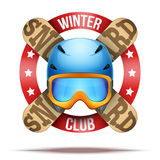 Ski club or team badges and labels Royalty Free Stock Photography