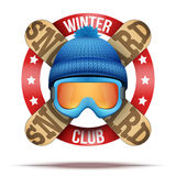Ski club or team badges and labels Royalty Free Stock Photos