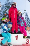 Ski competition winner Royalty Free Stock Photo