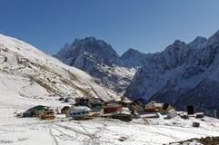 Ski complex Dombai-Vegas. Dombai, Karachay-Cherkessia, Russia. November 24, 2016 Royalty Free Stock Photos