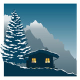 Ski cottage Royalty Free Stock Photo