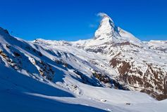 Ski course at Matterhorn Peak Royalty Free Stock Image