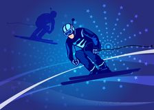 Ski-cross illustration Stock Photography