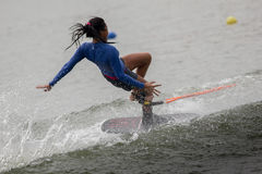 Ski 2015 d'eau national de championnats de tasse de Putrajaya et Wakeboard Image libre de droits