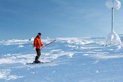 Ski d'homme Image libre de droits