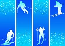 Ski dans la neige Photographie stock libre de droits